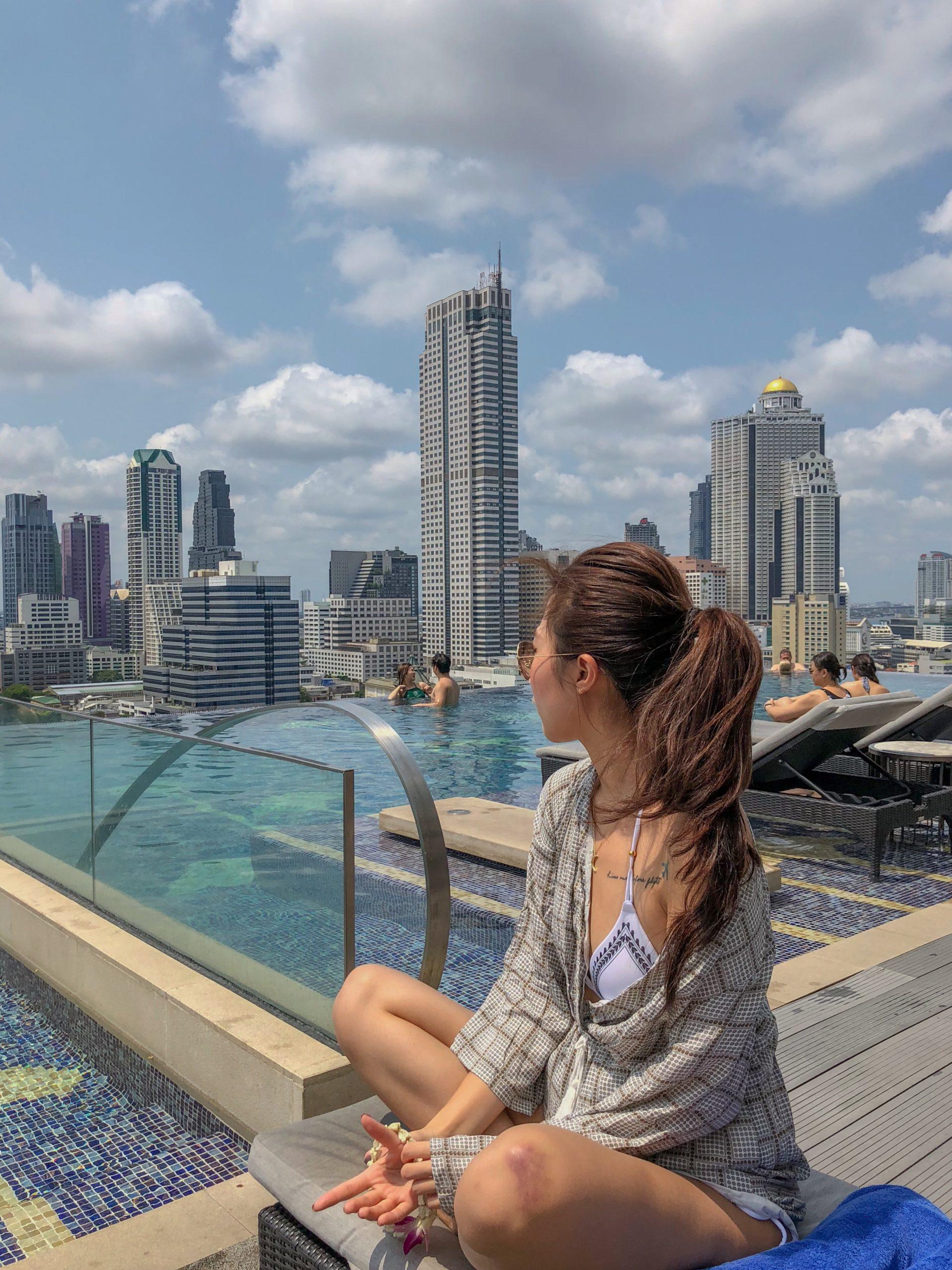 曼谷萬豪|蘇拉翁塞 Bangkok Marriott Hotel 無邊際泳池